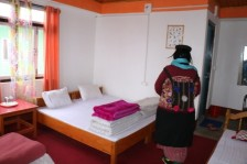 Inspecting a homestay in Sikkim